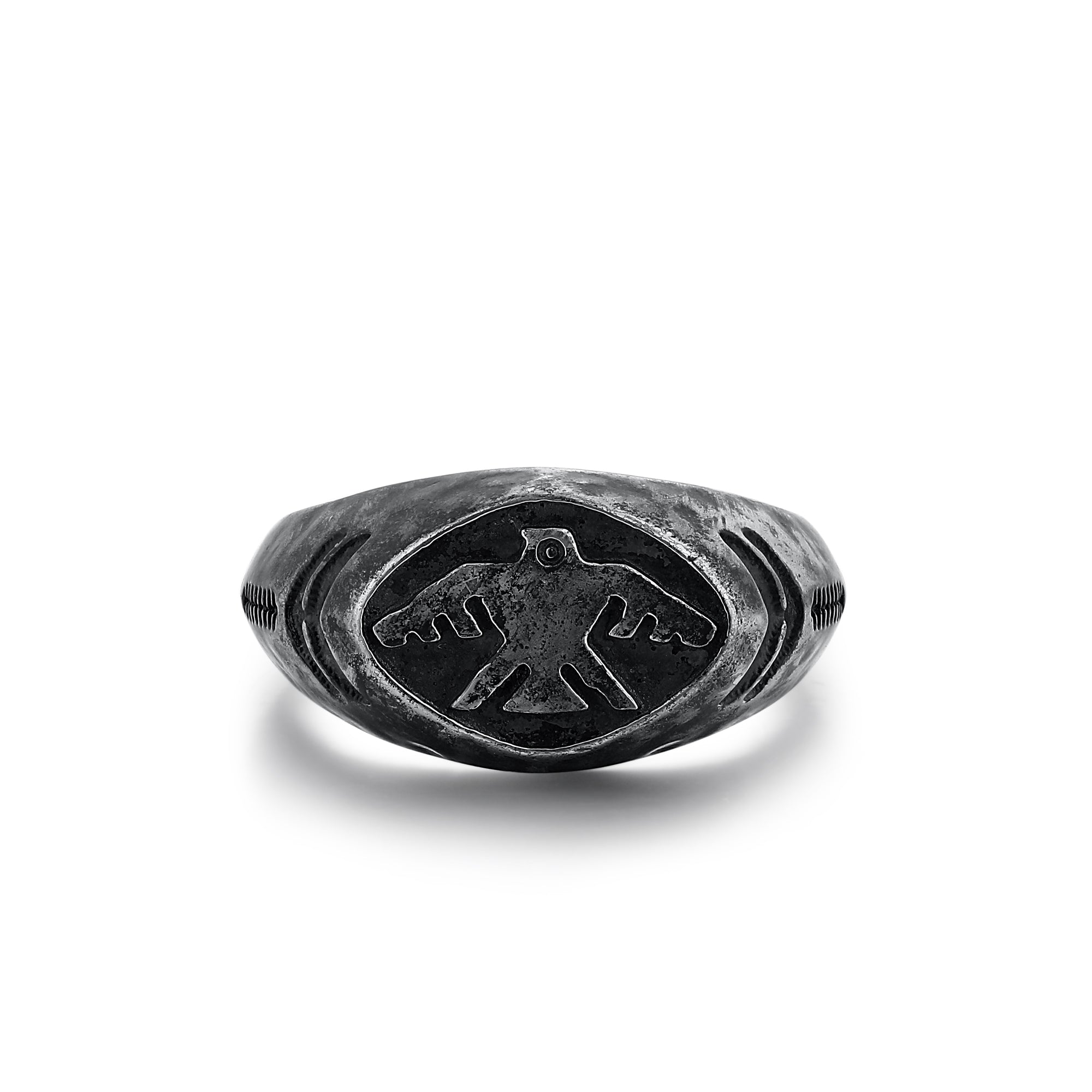 Silver Ring with Thunderbird