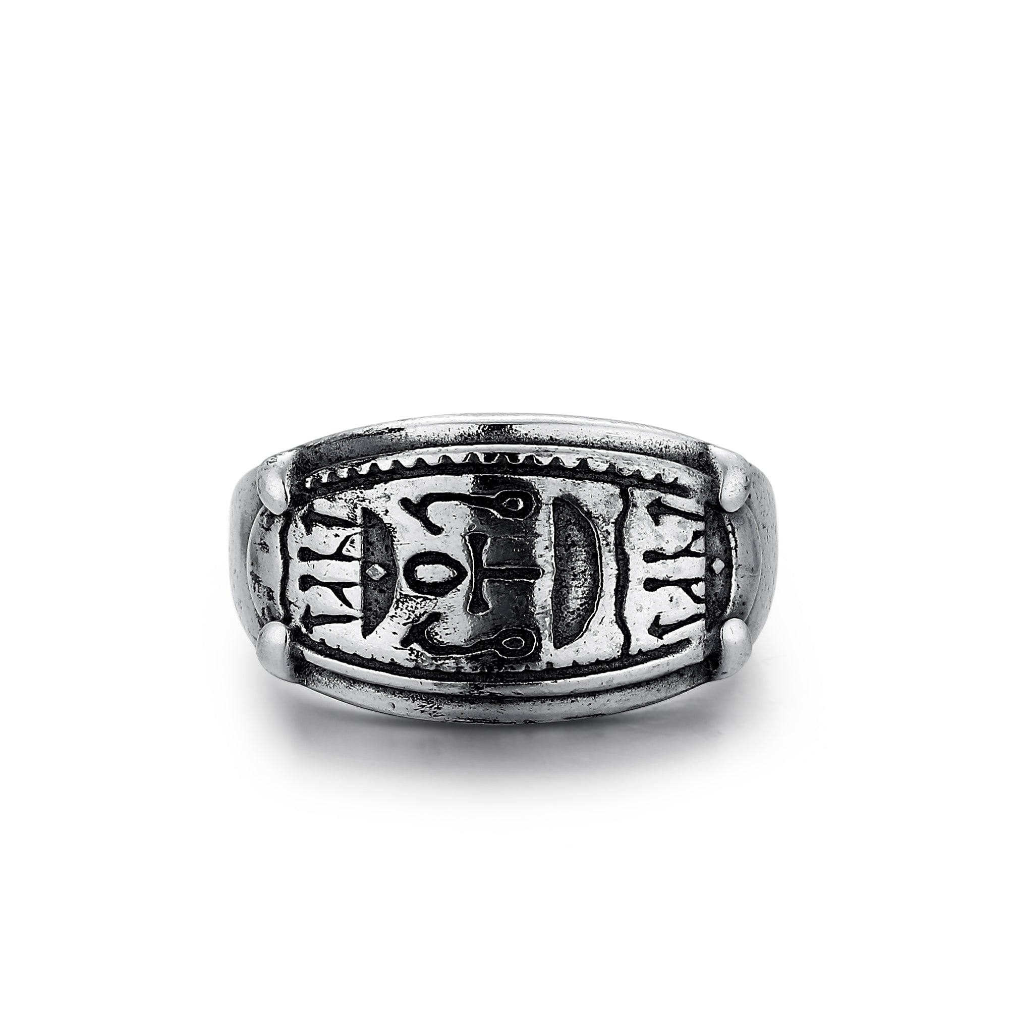 Oval Ring with Hieroglyphics