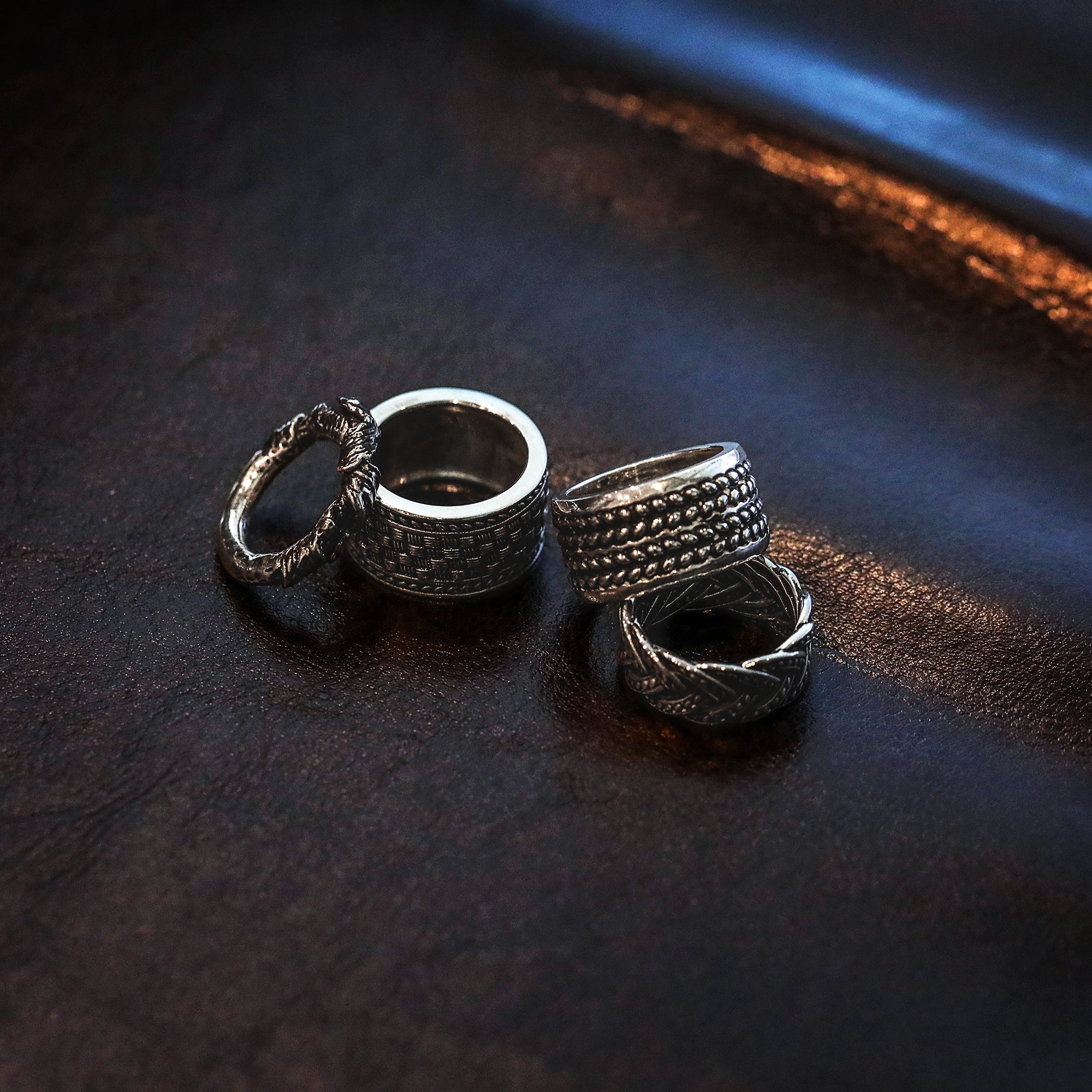 Black Oxidized 925 Sterling Silver wide band