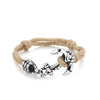 Brown Rope Bracelet with Anchor