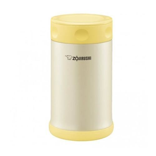 Zojirushi Stainless Steel Pearl Vacuum Insulated Food Jar 750ml, Yellow (SW-FCE75-YP)