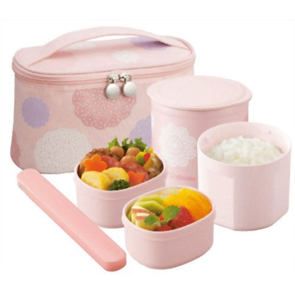Zojirushi Stainless Vacuum Insulated Lunch Box, 620ml, Lace Pink (SZGC-02-PD)