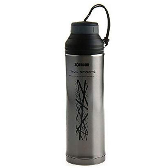 Zojirushi Stainless Steel Vacuum Insulated Cool Bottle, 500ml, Clear Black (STGC-50-BF)