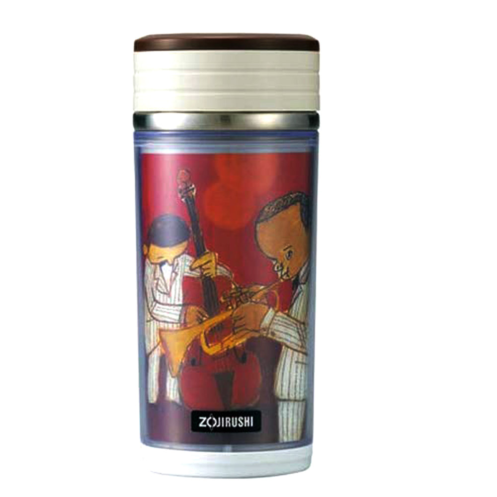 Zojirushi Stainless Steel Vacuum Insulated D-Mug, 350ml, Brown (SMBA-35-TA)