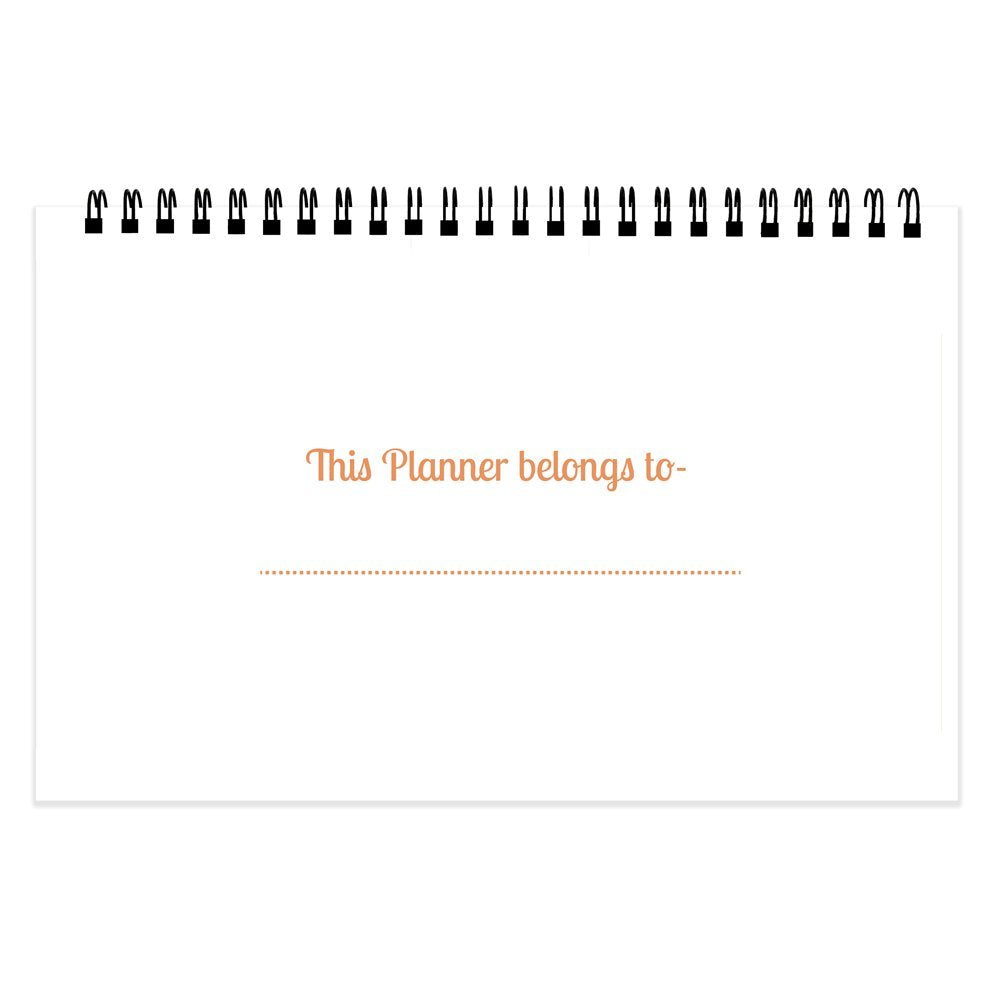 Chambers of Ink PS3 Desk Planner (9.3 * 5.5 inches) Size, Undated 52 Tear Off Sheets, Multicolor