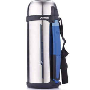 Zojirushi Stainless Steel Vacuum Insulated Bottle with Cup, 1.8 litres, Silver (SFCC-18-XA)