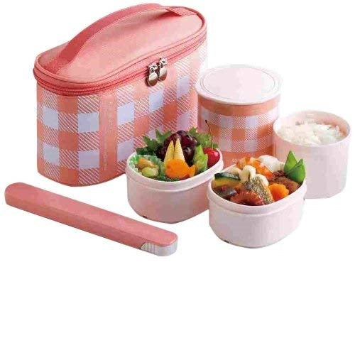 Zojirushi Stainless Vacuum Insulated Lunch Box, 950ml, Enamel Pink (SZ-GD-02-PM)