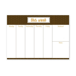 Chambers of Ink Weekly Undated Desk Planner Notepad, A4 Size (Brown)