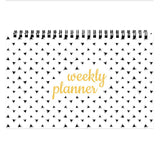 Chambers of Ink PS1 Desk Planner (9.3 * 5.5 inches) Size, Undated 52 Tear Off Sheets, Orange