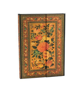 PaperBlanks Rose Garden Glowing Rose Hard Cover Single Ruled, Midi