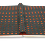 Paper-Oh Quadro Open-Flat Hard Cover Unlined Corporate Plain Notebook - B5, 112 Pages (Grey and Orange)