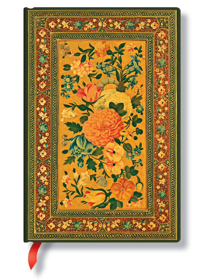 PaperBlanks Rose Garden Glowing Rose Hard Cover Single Ruled, Mini
