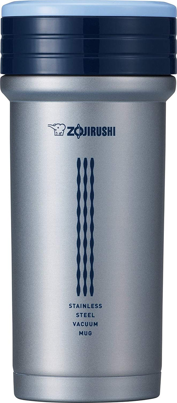 Zojirushi Stainless Steel Vacuum Insulated Mug, 350ml, Strainer Pearl Blue (SMCTE-35-AZ)