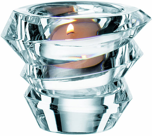 Nachtmann Crystal Tea Light Candle Holder Slice Votive