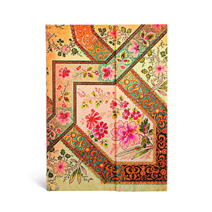 PaperBlanks Lyon Floral Filigree Hard Cover Single Ruled Diary, Midi