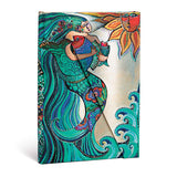 PaperBlanks Whimsical Creations Ocean Song Hard Cover Single Ruled Diary, Mini