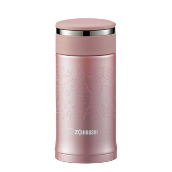 Zojirushi Stainless Steel Vacuum Insulated Rose Quartz 200ml Bottle (SM-EC20-PZ)