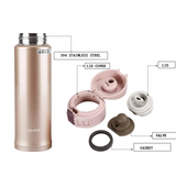 Zojirushi Stainless Steel Vacuum Insulated Bottle, 0.36L, Pink Champagne (SM-KB36-PX)