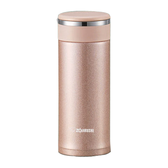 Zojirushi Stainless Steel Travel Mug with Tea Leaf Filter, 0.34L, Pink Champagne  (SM-JTE34-PX)
