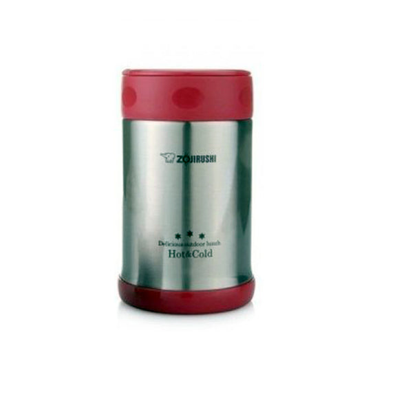 Zojirushi Stainless Steel Vacuum Insulated Ruby Red Food Jar 0.5L (SW-EXE50 RR)