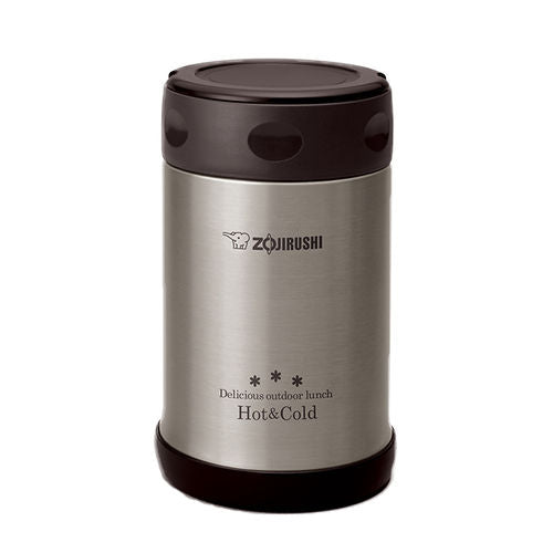 ZOJIRUSHI Stainless Steel Vacuum 500 ml Food Jar Black (SW-EXE50 BL)