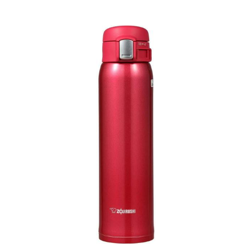 Zojirushi Stainless Steel Vacuum Bottle, 600ml, Clear Red (SM-SA60-RW)