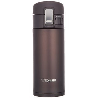 Zojirushi Stainless Steel Vacuum Insulated Bottle, 0.36L, Dark Cocoa (SM-KB36-TM)