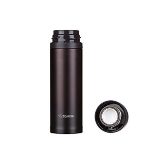 Zojirushi Stainless Steel Vacuum Insulated Bottle, 0.48L, Dark Cocoa (SM-XB48-TD)