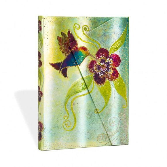 PaperBlanks Hummingbird Hard Cover Single Ruled Diary, Midi