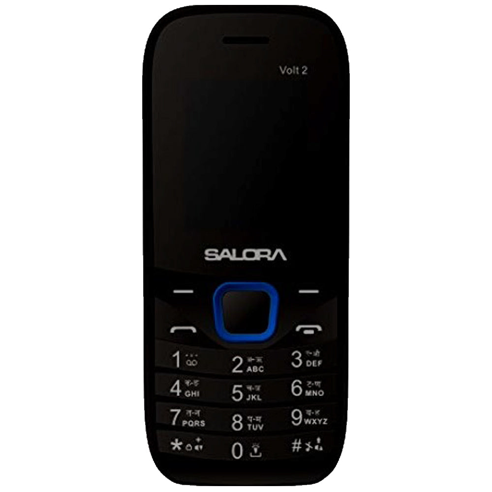 Salora KC12 Volt2- SV with Vibrator (Black-Blue) 2000 mAh Battery