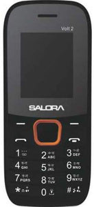 Salora KC12 Volt2- SV with Vibrator (Black-Orange) 2000 mAh Battery