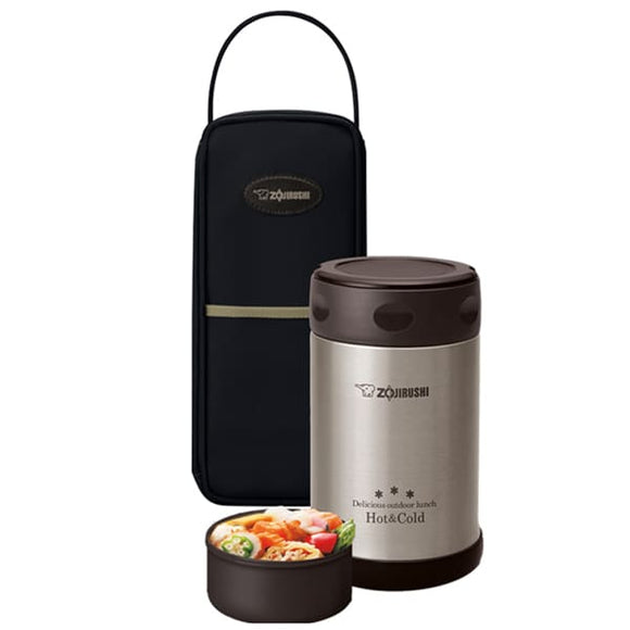 Zojirushi Stainless Steel Vacuum Food Jar, 500 ml, Black (SW-EXE50 BL)