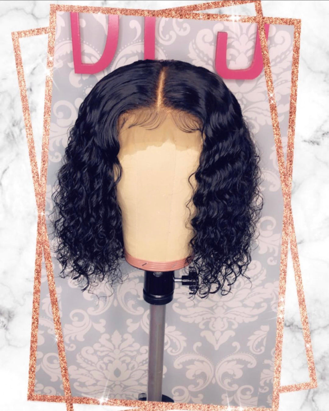 Curly Closure Bob Unit
