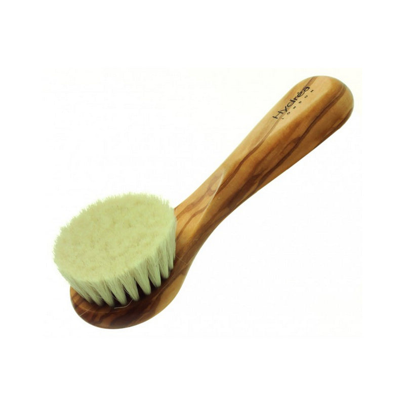 Olive Wood and Goat Hair Soft Facial Brush