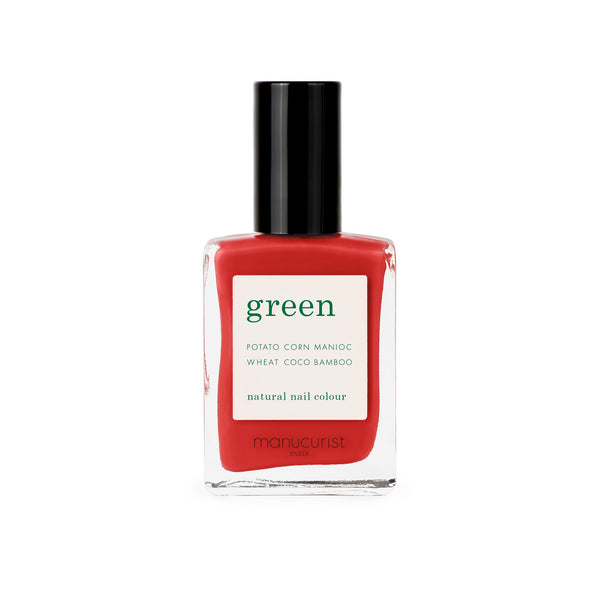Manucurist Green Nail Polish in Poppy Red
