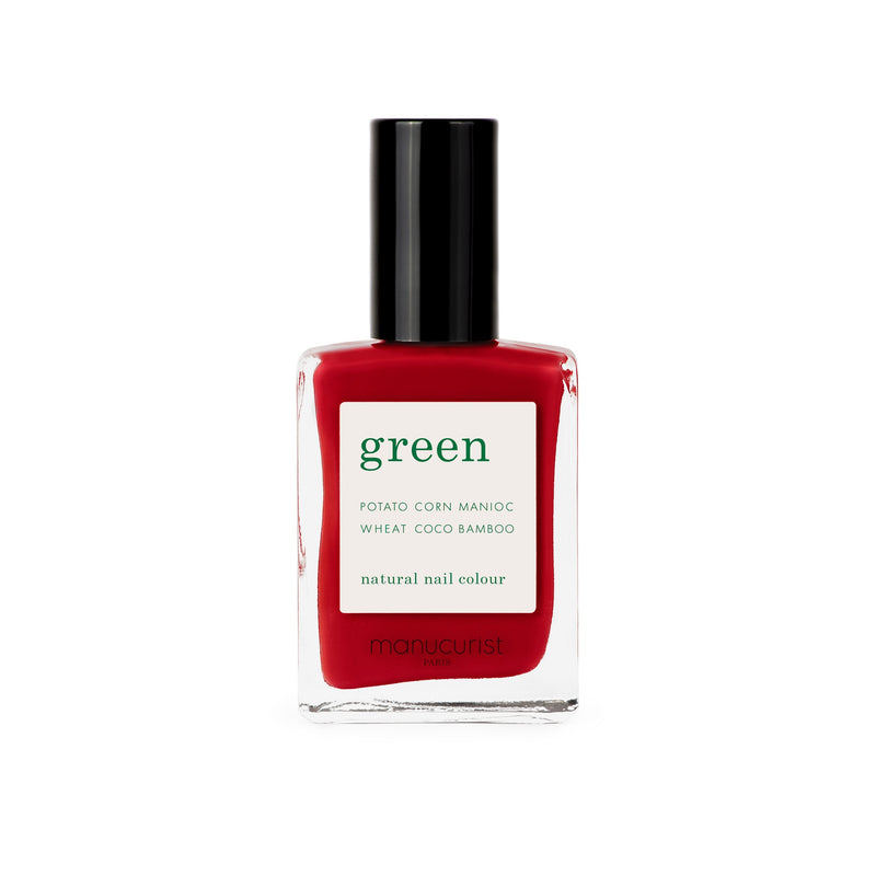 Manucurist Green Nail Polish in Red Cherry