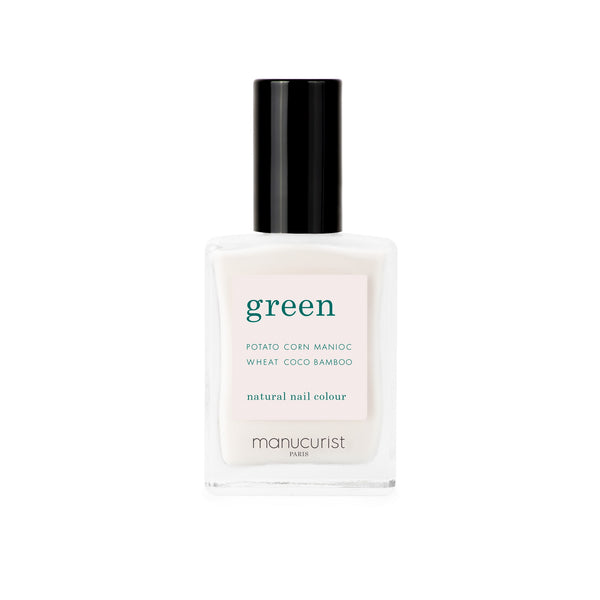 Manucurist Green Nail Polish in Milky White