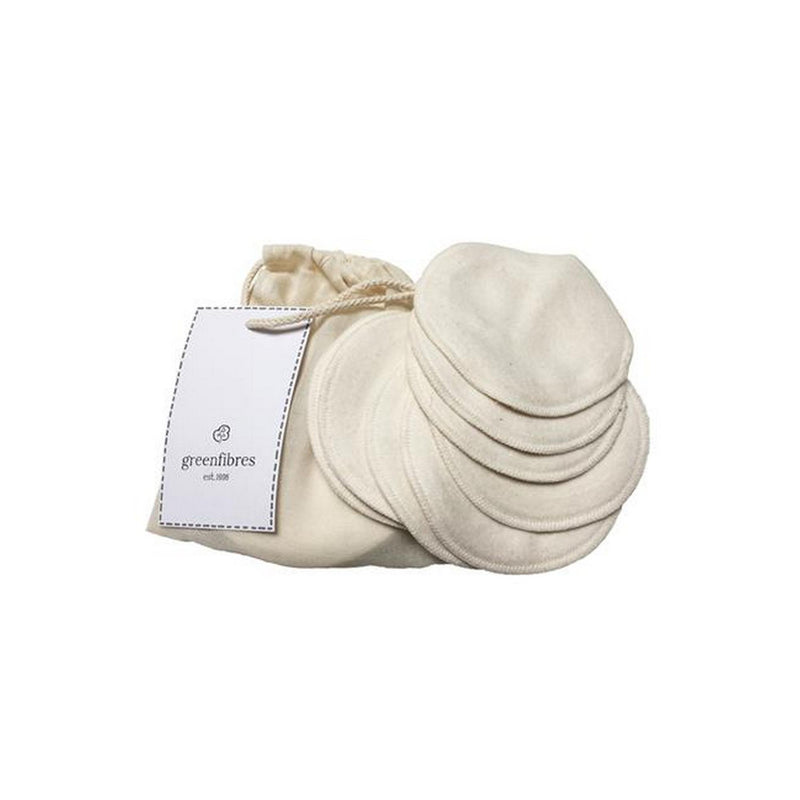 Greenfibres Organic Cotton Reusable Cleansing Pads with Bag