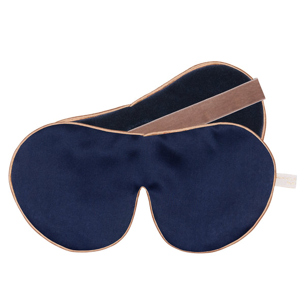 Holistic Silk One Strap Navy Anti-Age Silk Eye Mask
