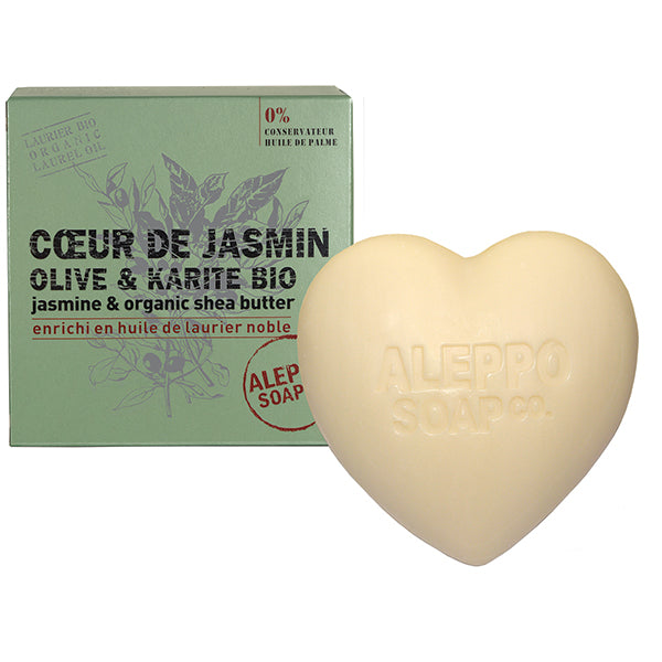 Jasmine and Organic Shea Butter Heart Soap 200g