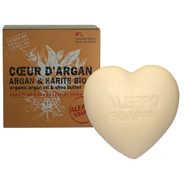Argan and Organic Shea Butter Heart Soap 200g