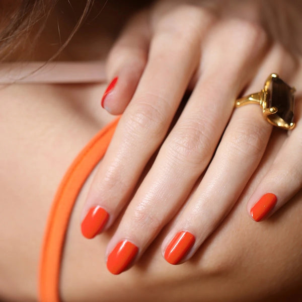 Manucurist Green Nail Polish in Coral Reef
