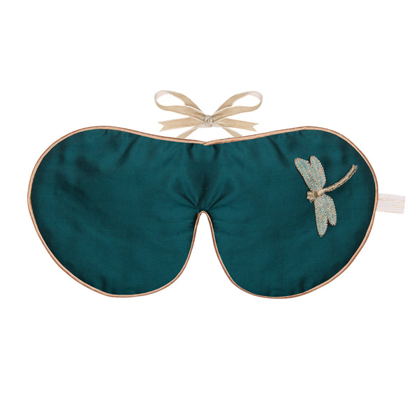 Holistic Silk Silk & Velvet Eye Mask in Emerald Dragon