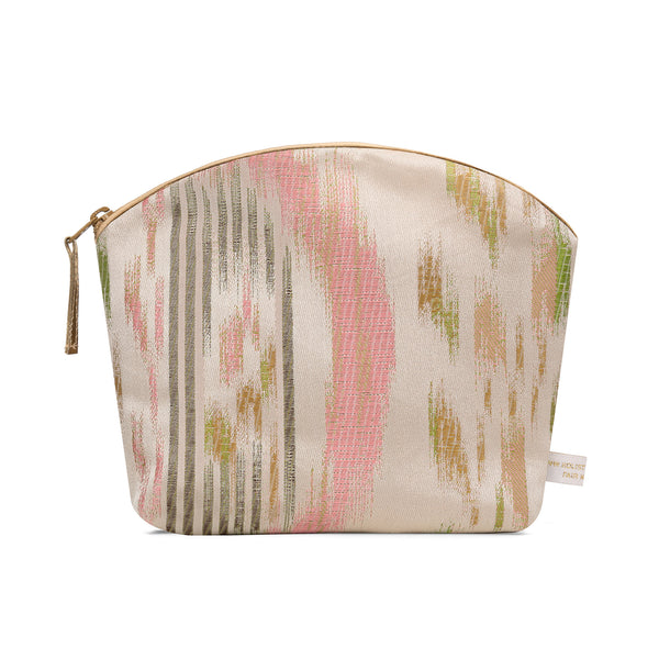 Holistic Silk Brocade Make-Up Bag in Ikat