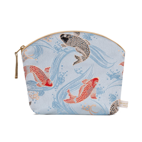 Brocade Make-Up Bag with Lavender - Carp Brocade
