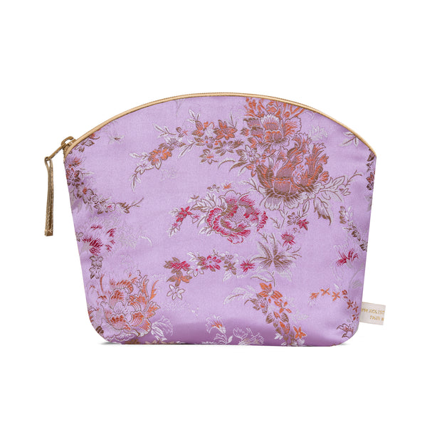 Brocade Make-Up Bag with Lavender - Lilac Bloom