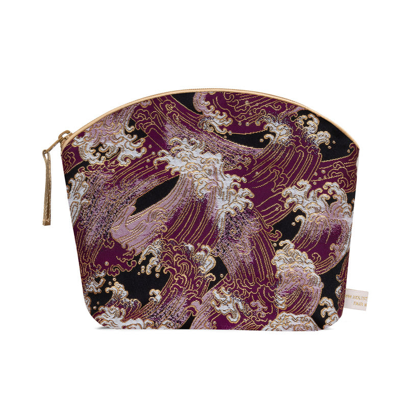 Brocade Make-Up Bag with Lavender - Lilac Waves