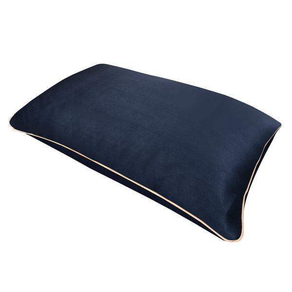 Pure Mulberry Silk Pillowcase in Navy