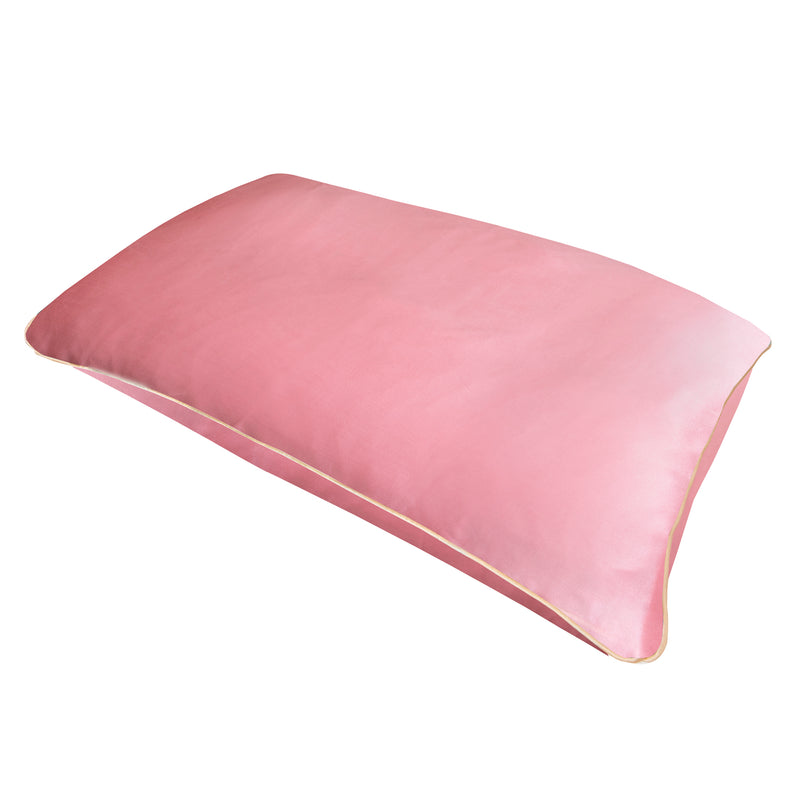 Pure Mulberry Silk Pillowcase in Rose