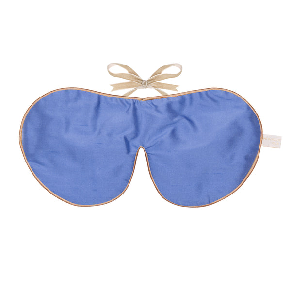 Plain Silk & Velvet Eye Mask Unscented - Sky